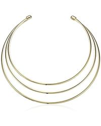Guess - Ig Metal Choker Necklace, Gold - Lyst