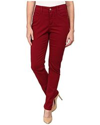 NYDJ - Petite Size Samantha Slim Jeans In Peached Sateen - Lyst