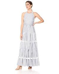 3cf807da5e4 Lyst - Eliza J Plus Size Halter Maxi Dress in White - Save 66%