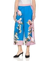 3ae67d6e4 Lyst - Ted Baker  ethereal Posie  Floral Print Crop Trousers in Black