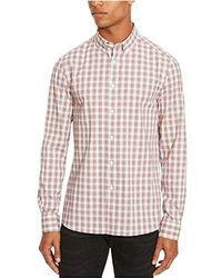 Kenneth Cole Reaction - Long Sleeve Slim Fit Ombre Shirt - Lyst