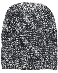 Lyst - Forte Women s Black   Cream Marled Wool   Cashmere-blend ... 1b5757bca4