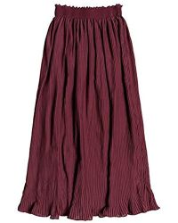 Roxy - Lost Green Canyon Midi Party Skirt - Lyst