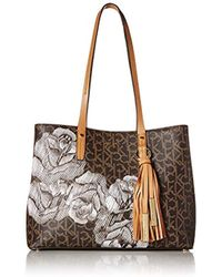 04ed28dd06 Lyst - Lauren By Ralph Lauren Equestrianprint Classic Leather Tote ...