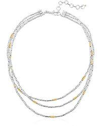 Gurhan - Vertigo Sterling Silver Triple Strand Necklace - Lyst