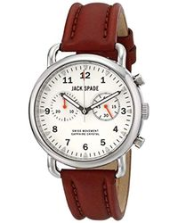 """Jack Spade - Wuru0114 """"norton"""" Stainless Steel Watch With Brown Leather Band - Lyst"""