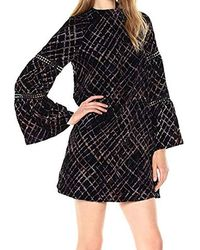 Laundry by Shelli Segal - Printed Plaid Crushed Velvet A Line - Lyst