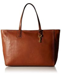 Fossil - Emma Work Tote-brown - Lyst