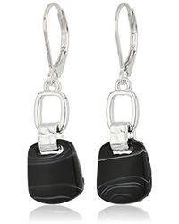 Nine West - Silver-tone Drop Earrings - Lyst