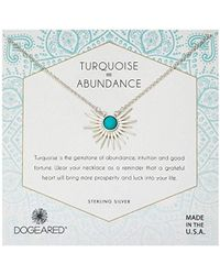 Dogeared - Silver Sun Ray Turquoise Chain Necklace - Lyst