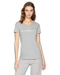 Emporio Armani - Iconic Logoband V-neck T-shirt - Lyst