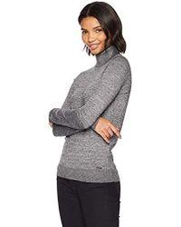 019a23ac5f4fd Lyst - Calvin Klein Womens Ribbed Knit Sleeveless Mock Turtleneck ...