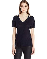 3d39ef805727 Armani Exchange - | Strp Fshion Short Sleeve Linen Jersey Tee - Lyst