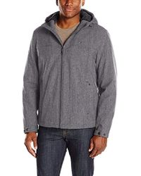 Tommy Hilfiger - Filled Soft Shell Hooded Open Bottom Jacket With Full Sherpa Lining - Lyst
