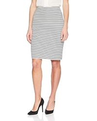 Kasper - Textured Striped Skirt - Lyst