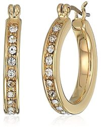 Ivanka Trump - Classics Gold-tone And Crystal Small Pave Hoop Earrings, 0 - Lyst