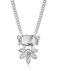 T Tahari - S Essentials Pendant Necklace With Stones, Silver/crystal, One Size - Lyst