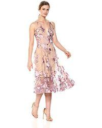 95dadb24 Dress the Population - Audrey Spaghetti Strap Midi A-line 3d Floral Dress -  Lyst