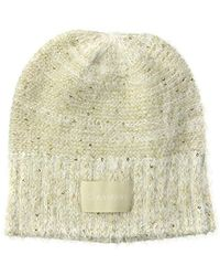 81d5bf7a969bf Calvin Klein Sequin Floppy Sun Hat in Black - Lyst