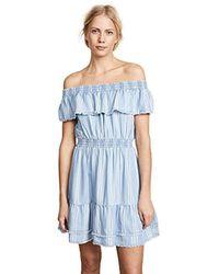 BB Dakota - Coco Denim Striped Off The Shoulder Dress - Lyst