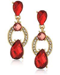 Anne Klein - Gold-tone Siam Post Drop Earrings - Lyst
