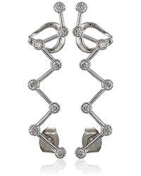 Noir Jewelry - Zig-zag Ear Cuffs - Lyst