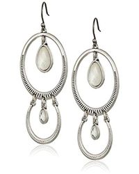 Lucky Brand - Double Drop Etched Earrings - Lyst