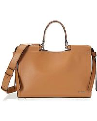 78e098f8e526 Calvin Klein - Callie Crosshatch Leather Knotted Satchel - Lyst