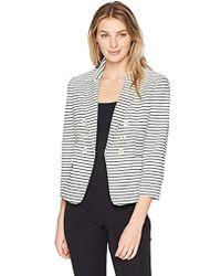 Kasper - Textured Striped Jacket - Lyst