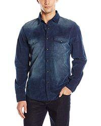 Joe's Jeans - Ralston Indigo Corduroy Button Down Shirt - Lyst
