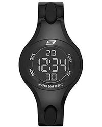 Skechers - Polliwog Quartz Plastic And Pu Sports Digital Watch - Lyst