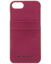 7f7a34648e13 Michael Kors - Saffiano Leather Phone Case For Iphone7/8 - Lyst