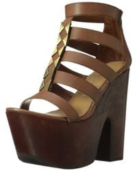 099c939d598 Lyst - Ted Baker Suede Wrap Around Gladiator Sandals in Blue