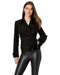 Nicole Miller - Corduroy Tucked Moto Jacket - Lyst