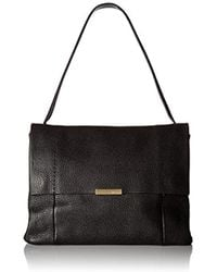 da32a80f403753 Lyst - Ted Baker Proter Grained Leather Shoulder Bag in Brown
