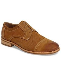 22ab8a9297a Lyst - Steve Madden Chays Cap Toe Derby in Brown for Men