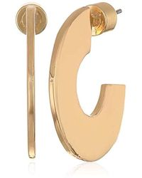 BCBGeneration - Bcbg Generation Gold Geometric Wide Hoop Earrings, One Size - Lyst