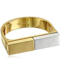 """CC SKYE - Rhodium Platform Statement Cuff Bracelet, 2.25"""" - Lyst"""