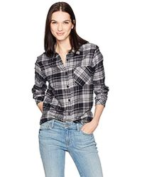 d97b9d45 Madewell Flannel Button Down Shirt in Gray - Lyst