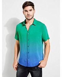 Guess - Short Sleeve Seaside Ombre Print Shirt - Lyst