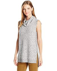 Two By Vince Camuto - S/l Marled Hilo Cowlneck Pullover - Lyst