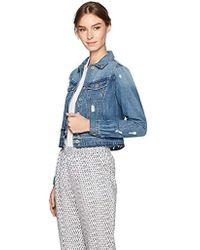 43af99e82a Jessica Simpson - Pixie Crop Fit Denim Jacket - Lyst