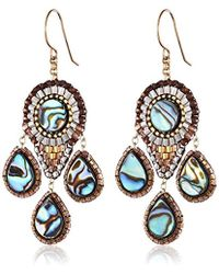 Miguel Ases - Abalone Small 3-drop Chandelier Earrings - Lyst