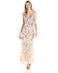 Aidan By Aidan Mattox - Floral Beaded Gown - Lyst