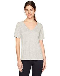Michael Stars - Brooklyn Jersey Front To Back Short Sleeve Top Tie - Lyst