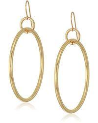 Elizabeth and James - Lueur Hoop Earring, Gold - Lyst