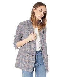 Rebecca Taylor - Plaid Blazer (navy Combo) Women's Jacket - Lyst