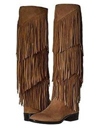 a7a012d4ecf94 Lyst - Sam Edelman  pendra  Fringe Western Boot in Black - Save 77%