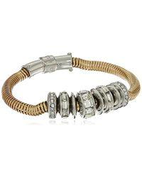 Kenneth Cole - Modern Essentials Silver And Crystal Bracelet - Lyst