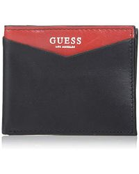 Guess - Rfid Security Blocking Leather Wallet - Lyst